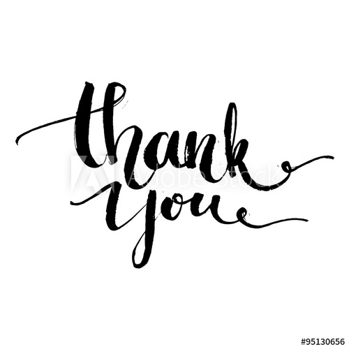 500x500 Thank You. Vector Typography Design For Cards, T Shirt, Posters