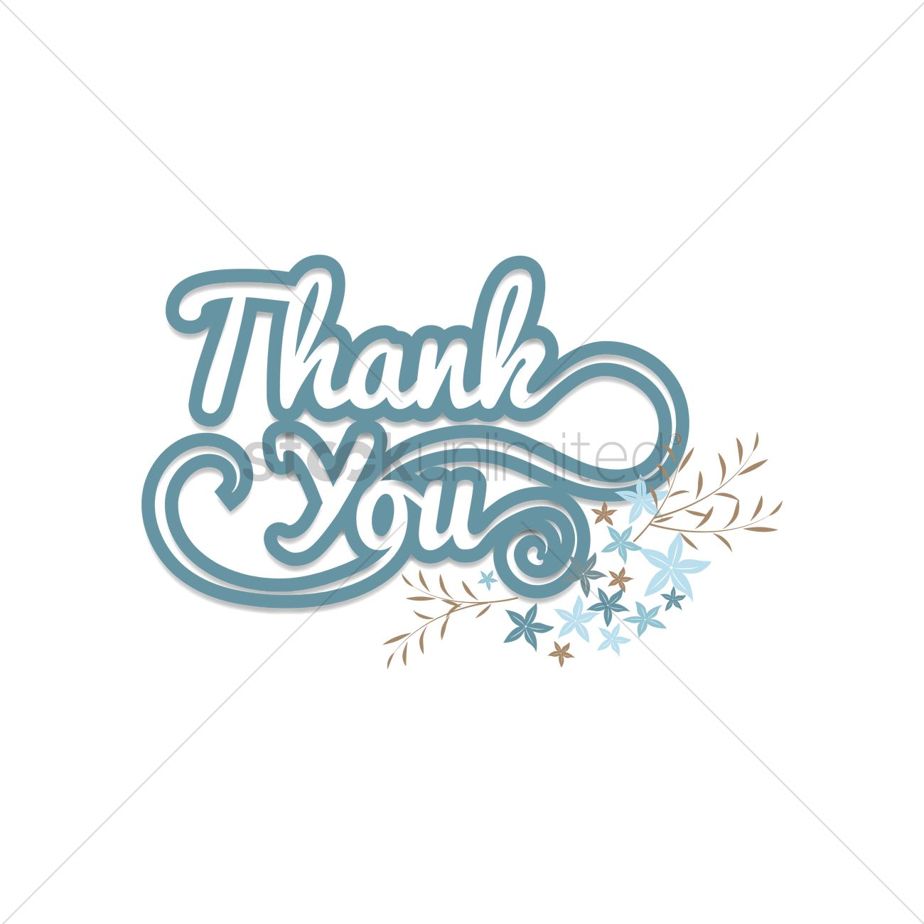 1300x1300 Free Thank You Vector Image
