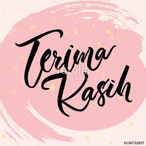 500x500 Indonesian Lettering Terima Kasih(Thank You). Vector Bahasa