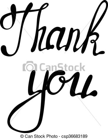 366x470 Lettering Thank You. Vector Lettering Thank You.
