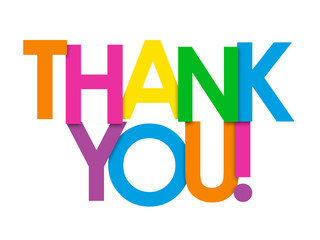 320x240 Thank You Vector Overlapping Letters Icon