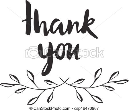 450x388 Vector Thank You Card With Olive Branches.