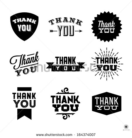 450x470 Vintage Thank You Clipart Free