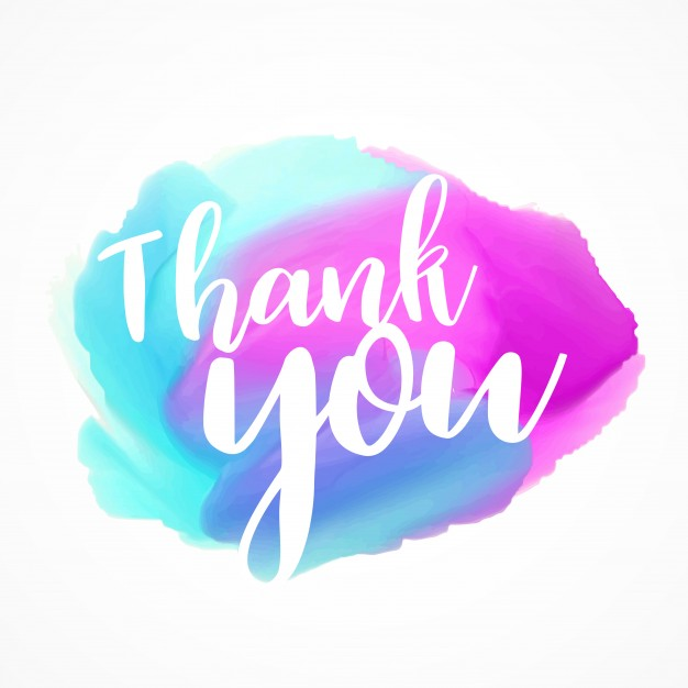 626x626 Watercolors With Thank You Text Vector Free Download