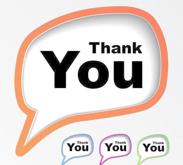 600x542 Thank You, Thank You For Your Dialog Box Dialog Box Vector