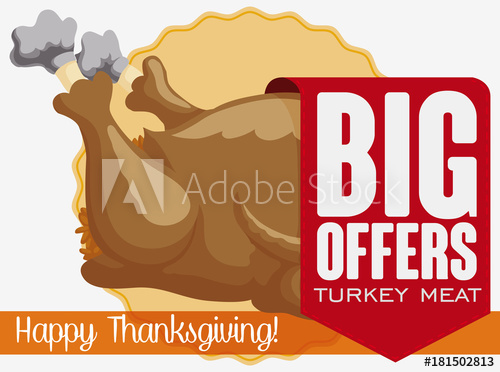 500x372 Ribbon With Special Discounts In Turkey Meat For Thanksgiving