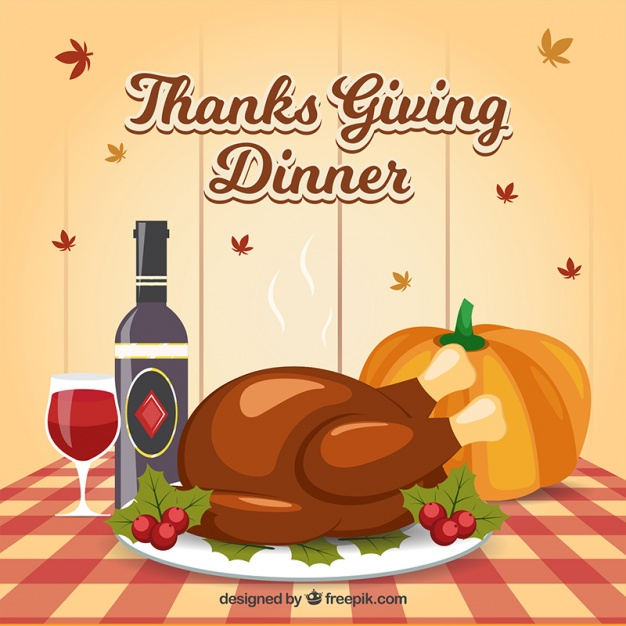 626x626 Background Of Delicious Dishes For Thanksgiving Dinner Vector