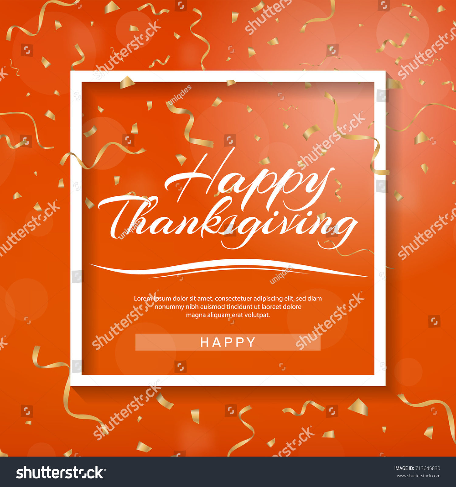 1500x1600 Stock Vector Happy Thanksgiving Banner Invitation Design For A