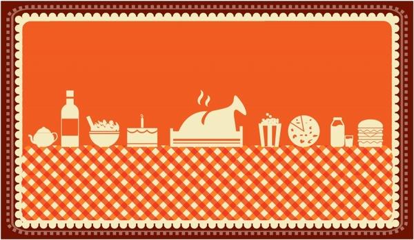 600x348 Thanksgiving Dinner Spread Free Vector In Adobe Illustrator Ai