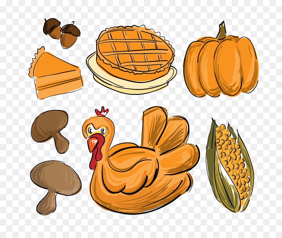 900x760 Thanksgiving Dinner Drawing Food