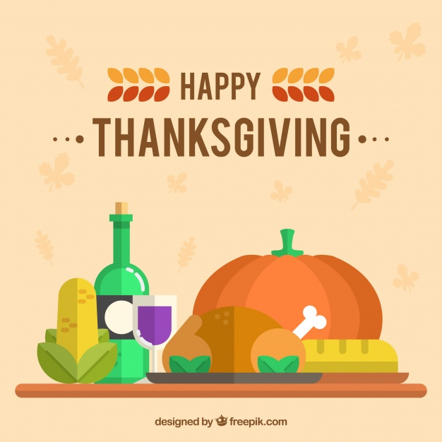 626x626 Thanksgiving Dinner Background In Flat Design Vector Free Download