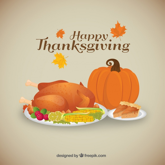 626x626 Background Of Tasty Thanksgiving Dinner Vector Free Download