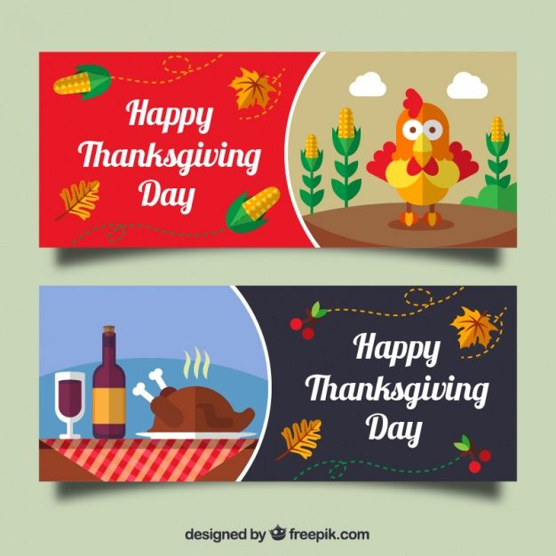 626x626 Banners Of Thanksgiving Dinner Free Vector Banner Ads