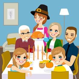 260x260 Download Family Dinner Vector Clipart Thanksgiving Dinner Clip Art