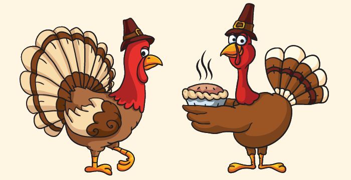700x360 Thanksgiving Vector Graphics And Greeting Templates