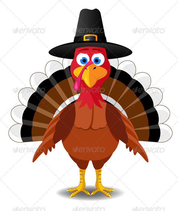590x700 Thanksgiving Turkey. Vector Illustration By Alexjuve Graphicriver