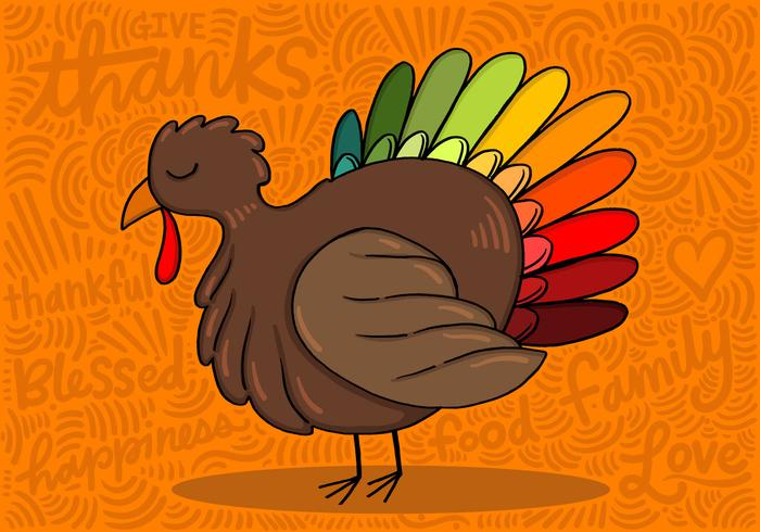 700x490 Colorful Thanksgiving Turkey
