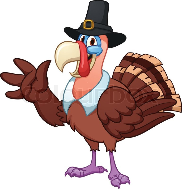 771x800 Cute Cartoon Thanksgiving Turkey. Vector Illustration With Simple