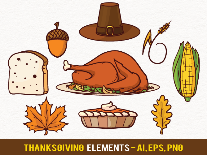 668x501 Free Thanksgiving Vector Elements By Pixaroma