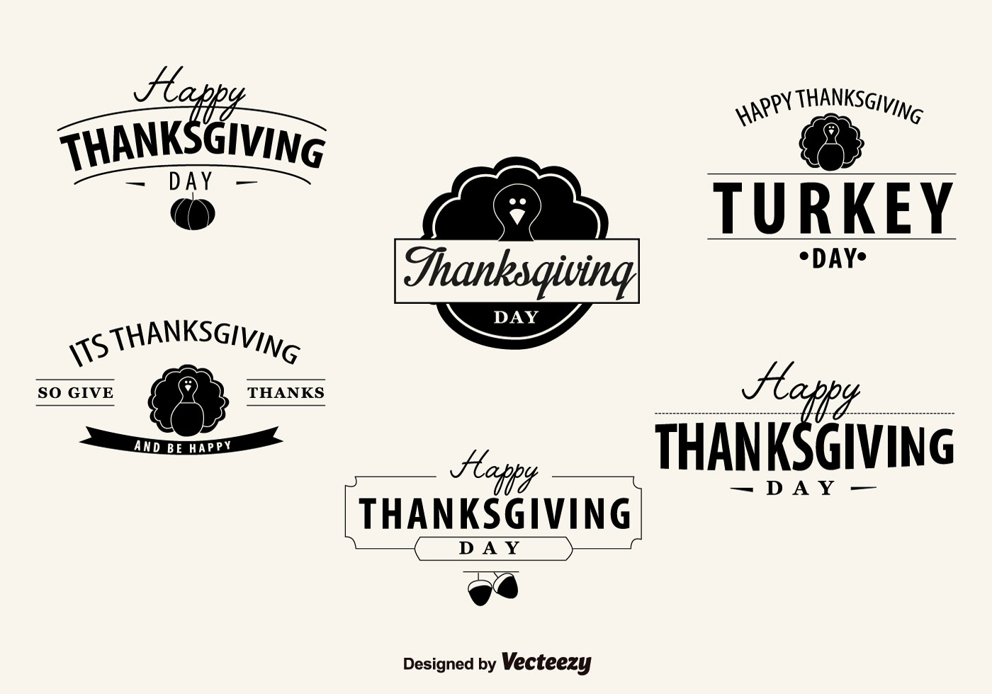1400x980 Free Vector Thanksgiving Day Badges