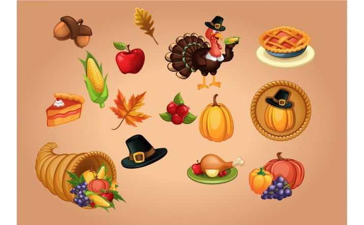 716x443 Thanksgiving Vector Graphics Vectorvice (11 Eps Files)
