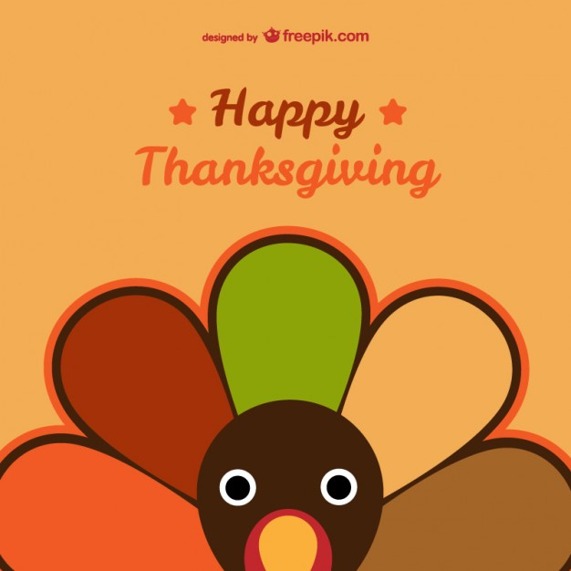 626x626 Happy Thanksgiving Card Vector Free Vector Download In .ai, .eps