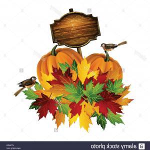 300x300 Photostock Vector Thanksgiving Autumn Leaves Pumpkin Abstract