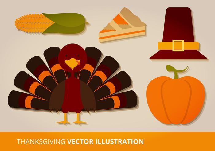 700x490 Thanksgiving Vector Set