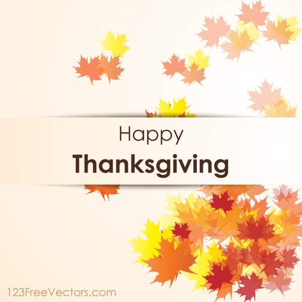 600x600 Happy Thanksgiving Day Vector Background Download Free Vector