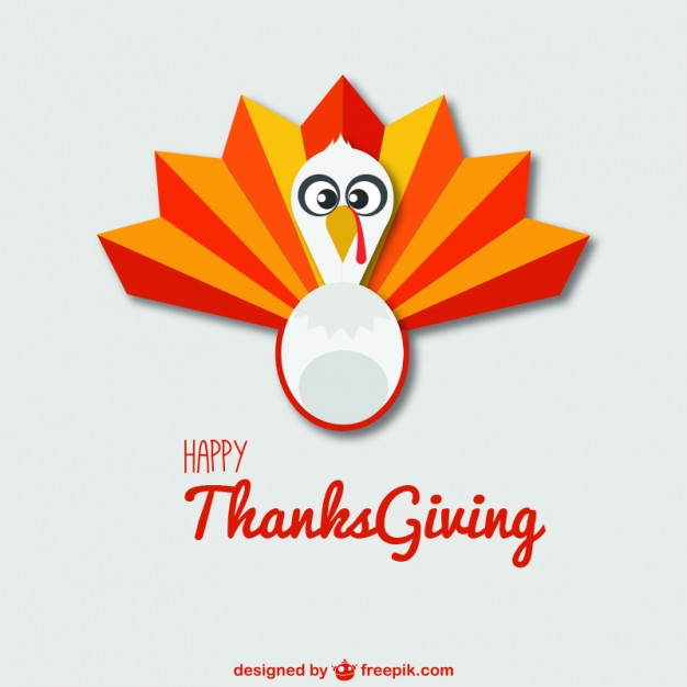 626x626 Happy Thanksgiving Background With Turkey Vector Free Download