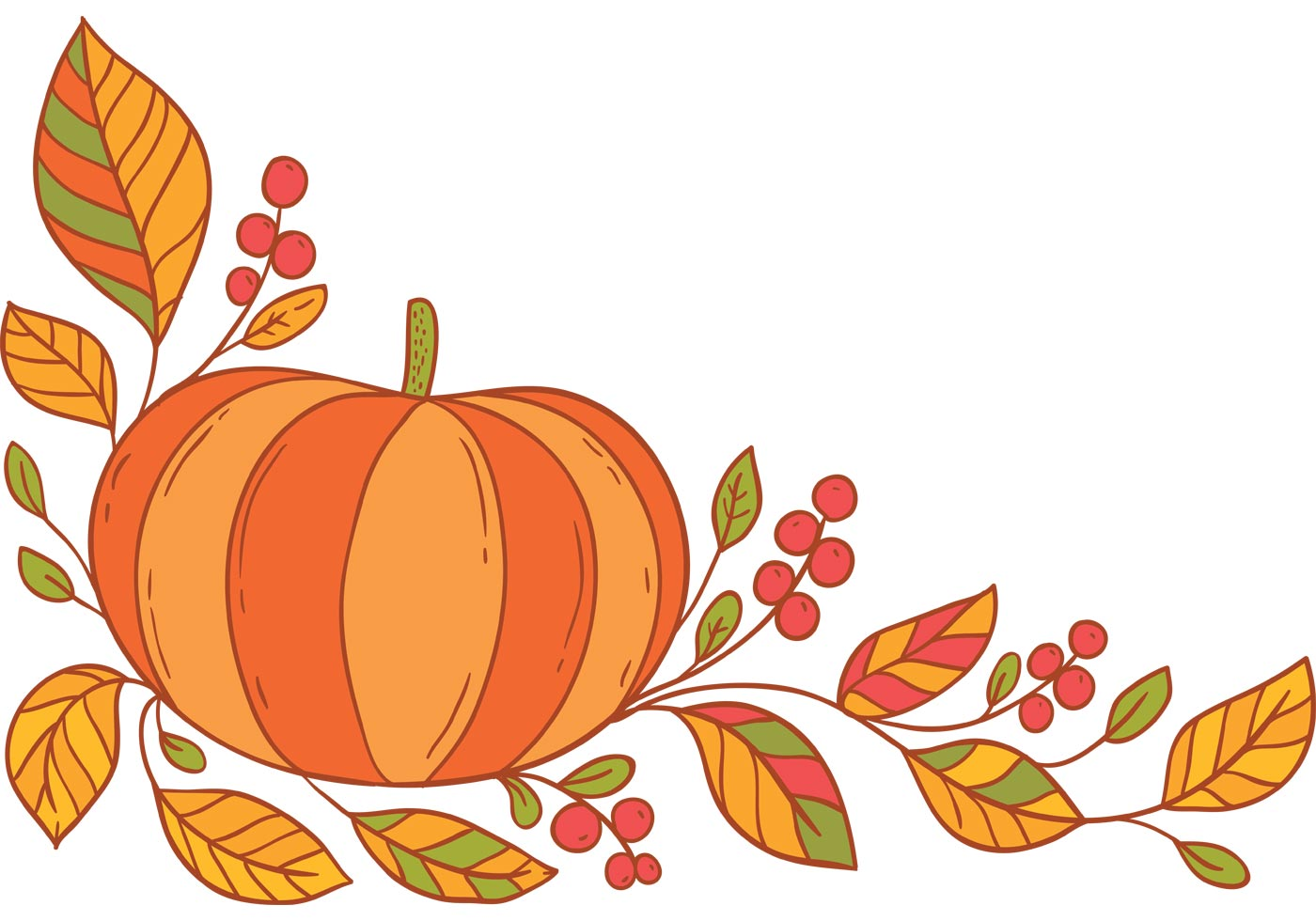 1400x980 Thanksgiving Border Free Vector Art