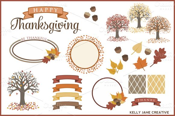 580x386 Thanksgiving Vector Graphics And Greeting Templates
