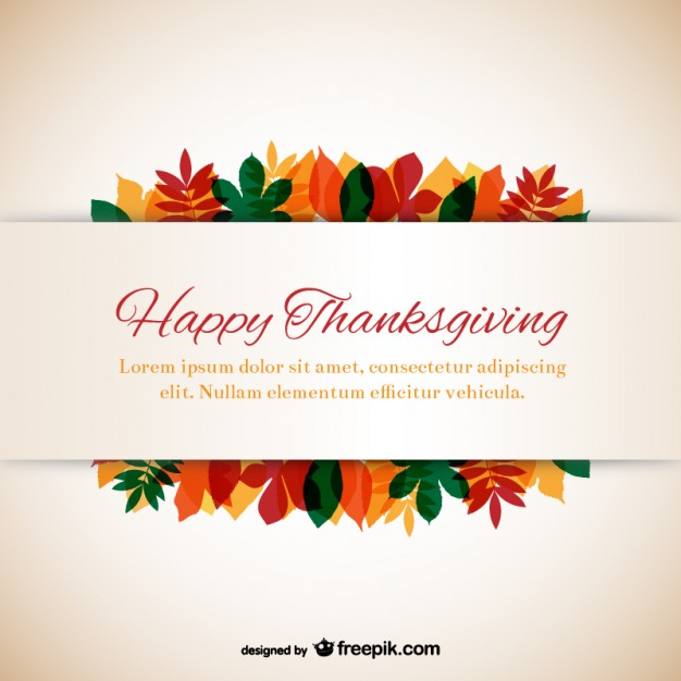 626x626 Thanksgiving Template With Leaves Vector Free Download
