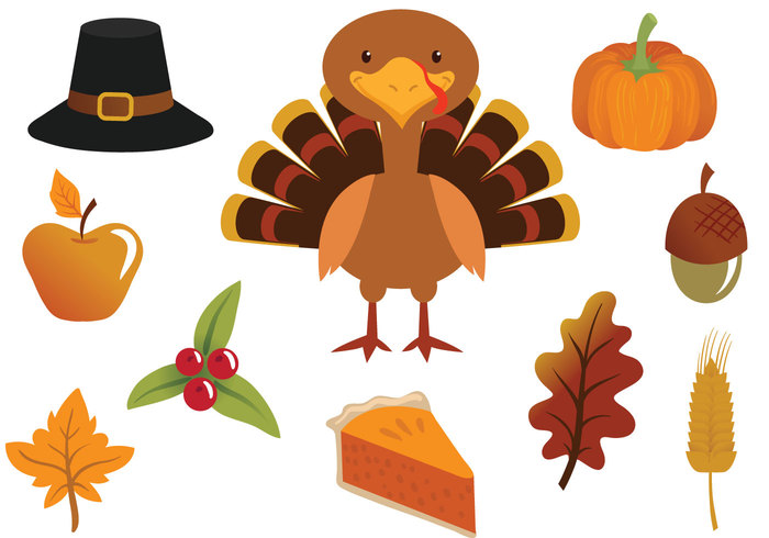 700x490 Free Thanksgiving Vectors