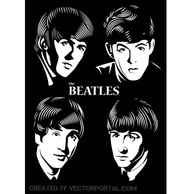 660x660 Beatles Vector Portrait