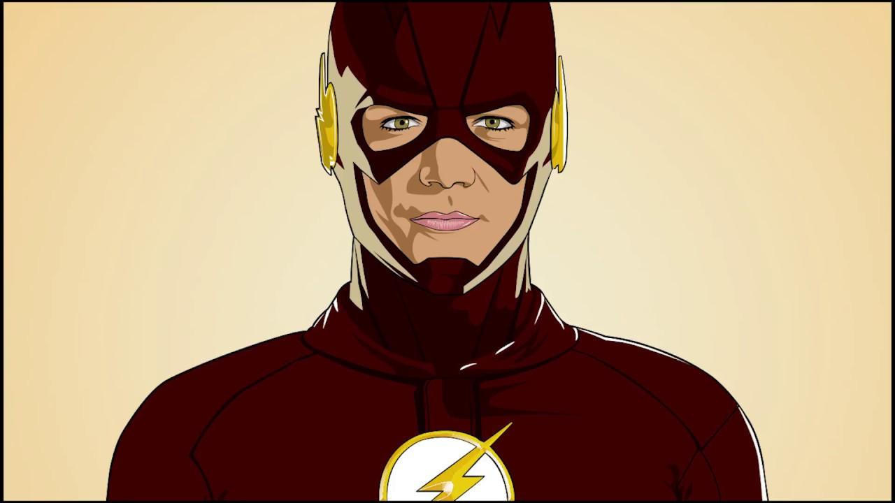 1280x720 The Flash Vector Art Vexel Art Speed Art