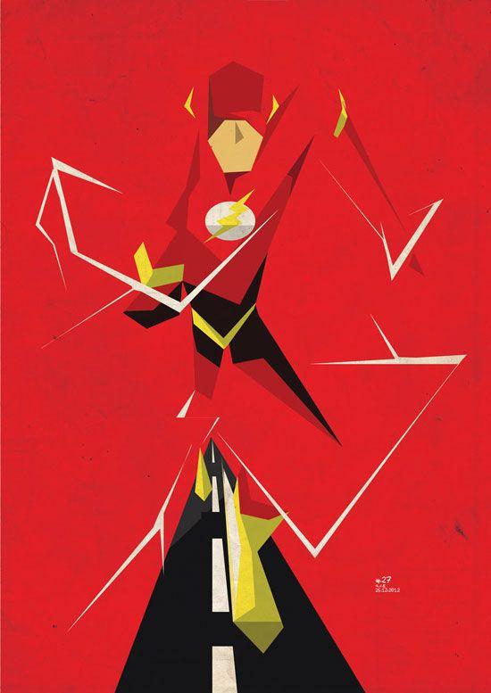 550x777 The Flash Vector Minimalist Superhero And Villain Print Heroes