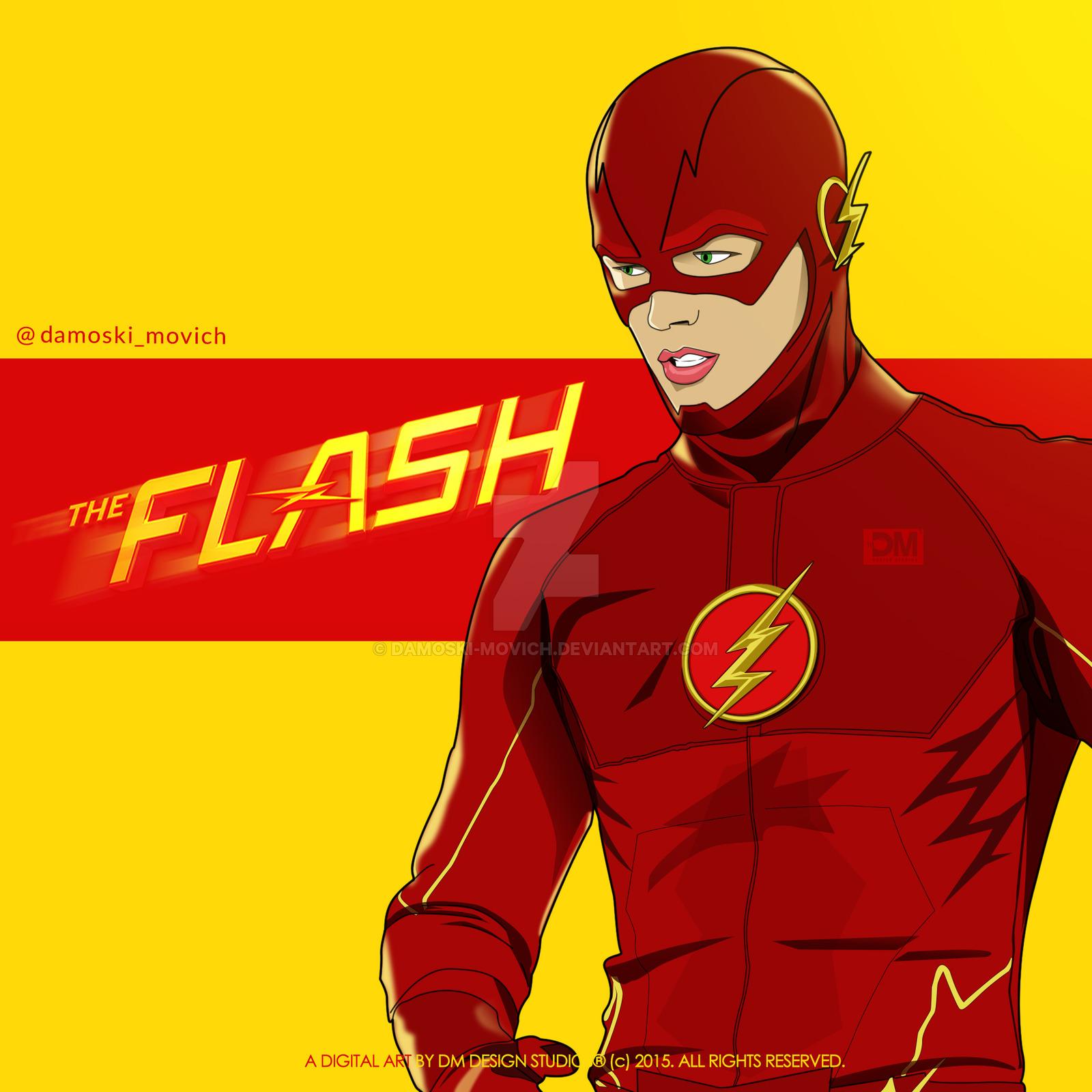 1600x1600 The Flash By Damoski Movich