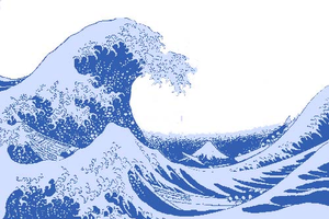 300x200 Great Wave Copy Free Images