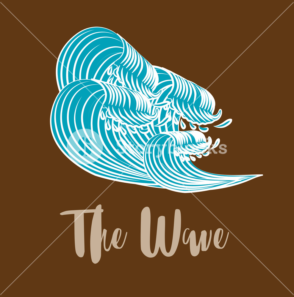 988x1000 The Great Wave Off Kanagawa Vector Illustration Royalty Free Stock