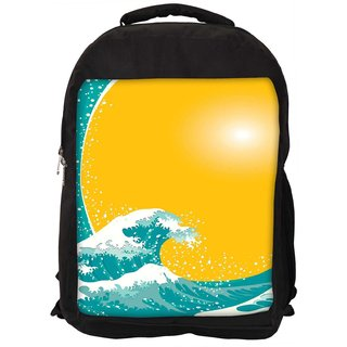 320x320 Buy The Great Wave Vector Background Designer Laptop Backpacks