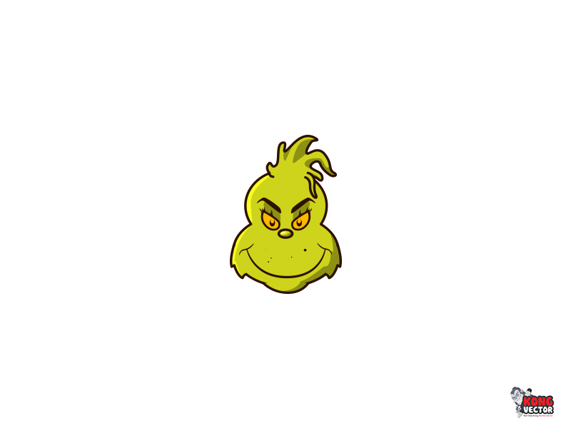 800x600 The Grinch By Kong Vector