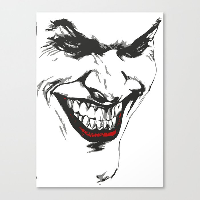700x700 Joker Vector Canvas Print By Pablorodriguez Society6
