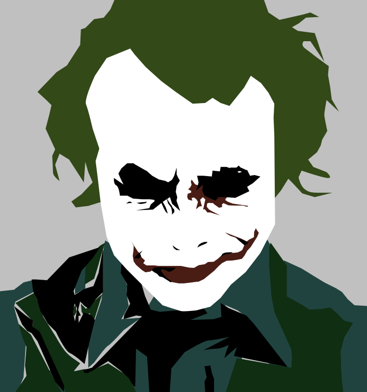 748x799 Joker Vector. Smiling Joker Coloring