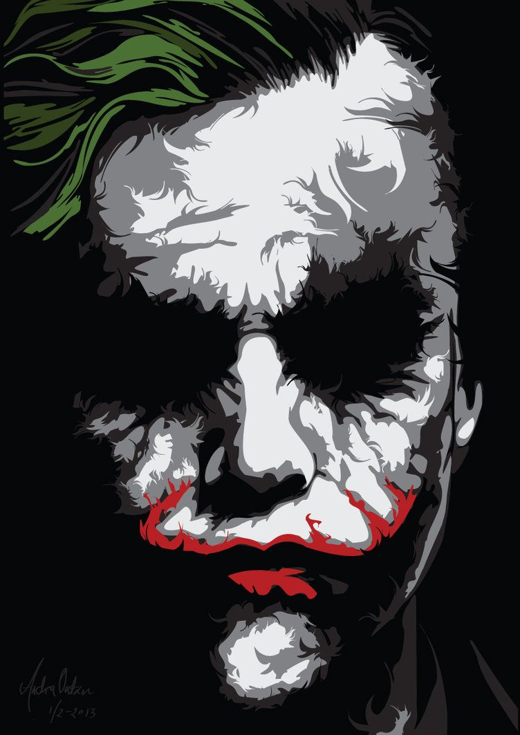 752x1063 Trying To Do A Ken Taylor Inspired Poster. The Joker In Vector