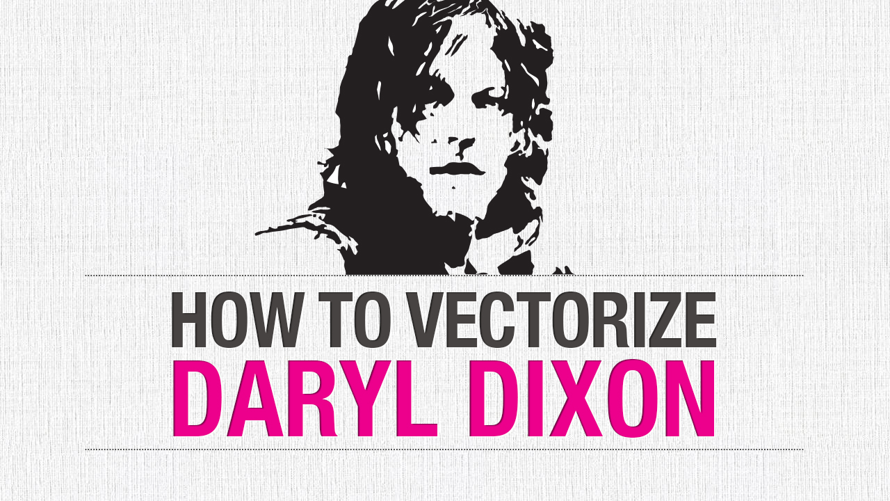 1280x720 How To Vectorize Daryl Dixon From The Walking Dead This Design Girl