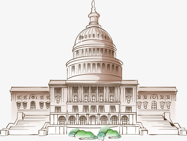 650x490 Vector Hand Painted White House, House Vector, Vector, Hand