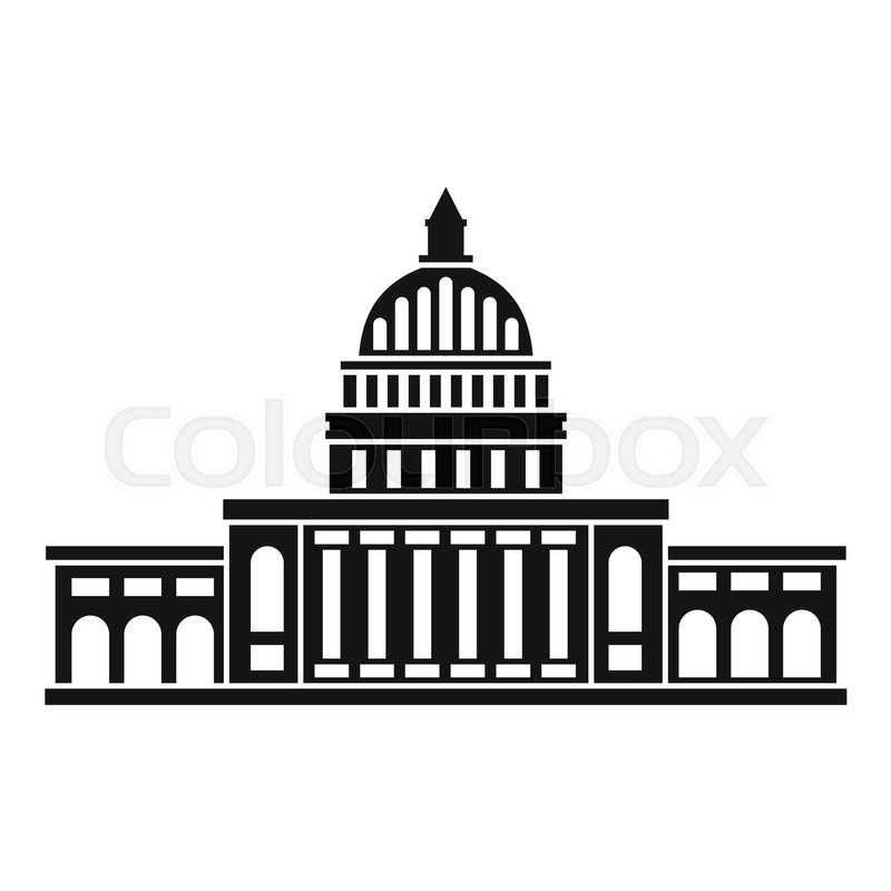 800x800 White House Icon. Simple Illustration Of White House Vector Icon