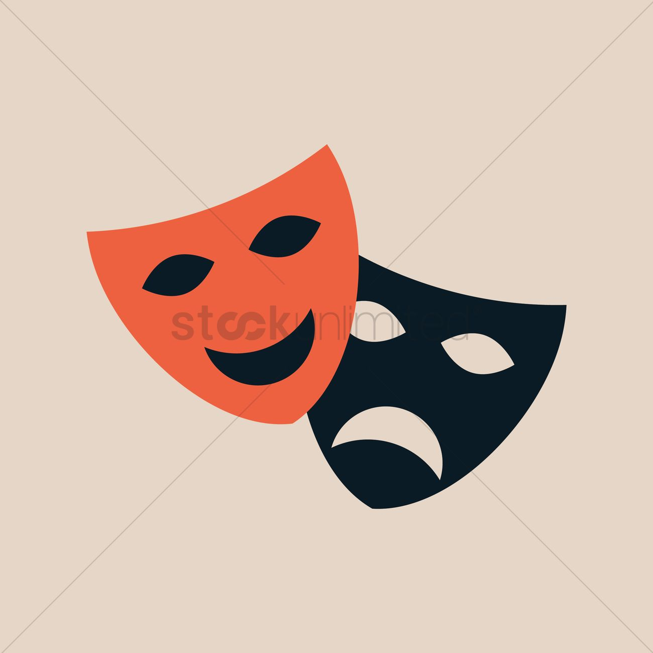 1300x1300 Theatre Mask Vector Image