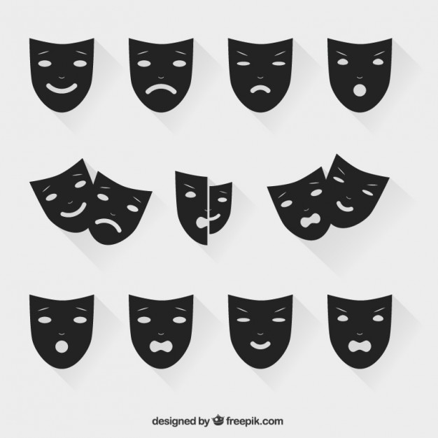 626x626 Theatrical Masks Vector Free Download